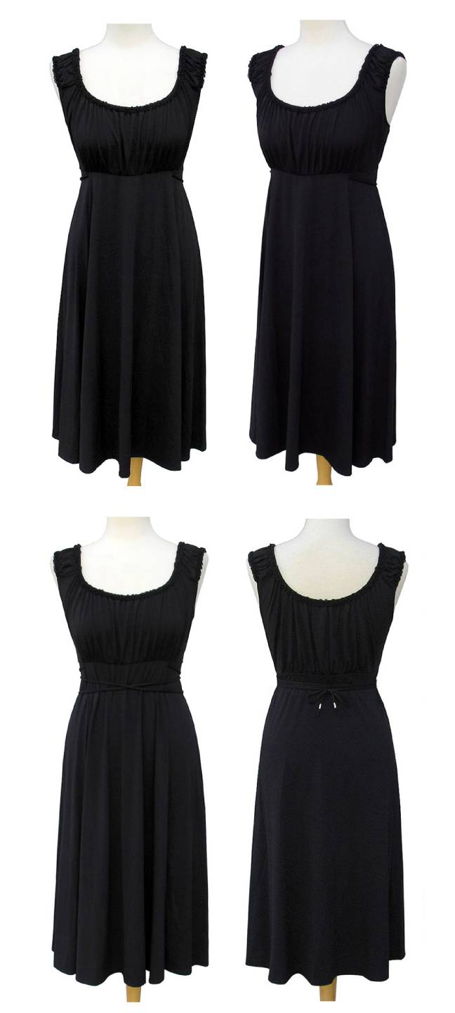 T Tahari By Elie Tahari Black Phantom Knit Dress