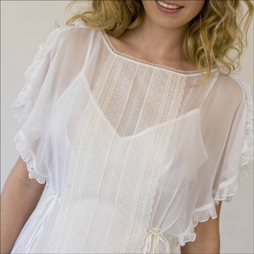 Nanette Lepore Chalk White Ain T She Sweet Blouse Top