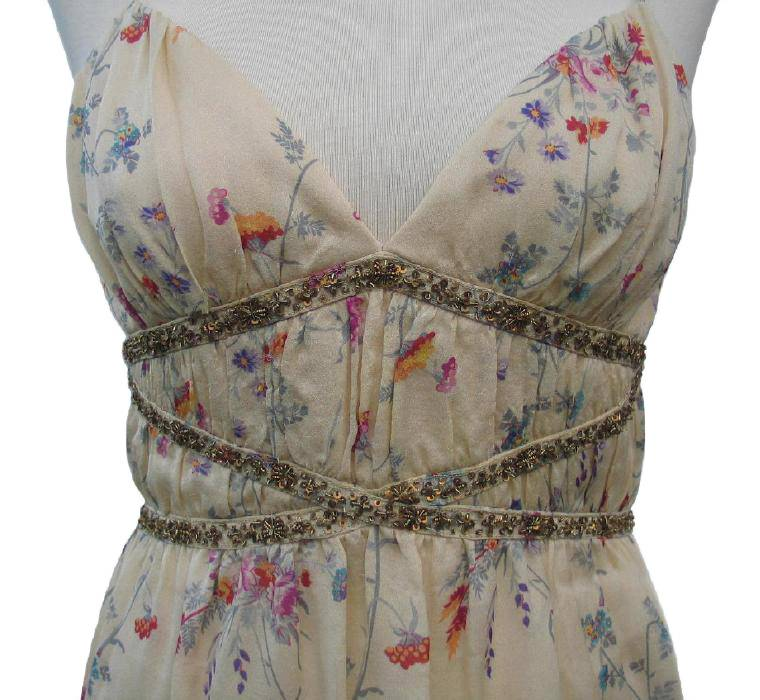 Badgley Mischka Silk Floral Print Blouse Camisole Top