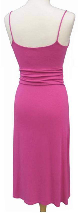 Tahari By Elie Tahari Pink Fuchsia Knit Surplice Dress