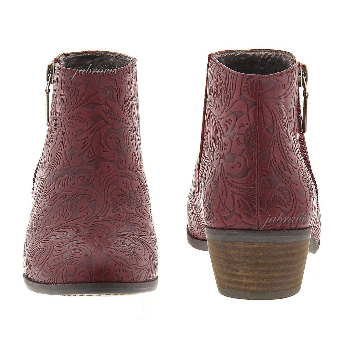 VERY VOLATILE • Fairchild Tooled Embossed Ankle Boot ...