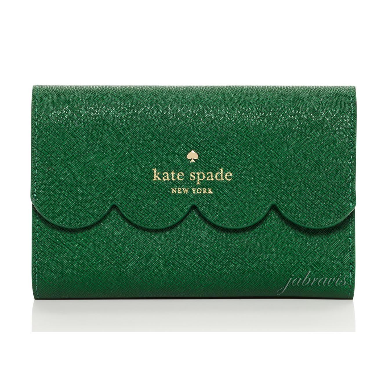 Kate Spade Verde Lirio Avenue Saffiano Cuero Borde