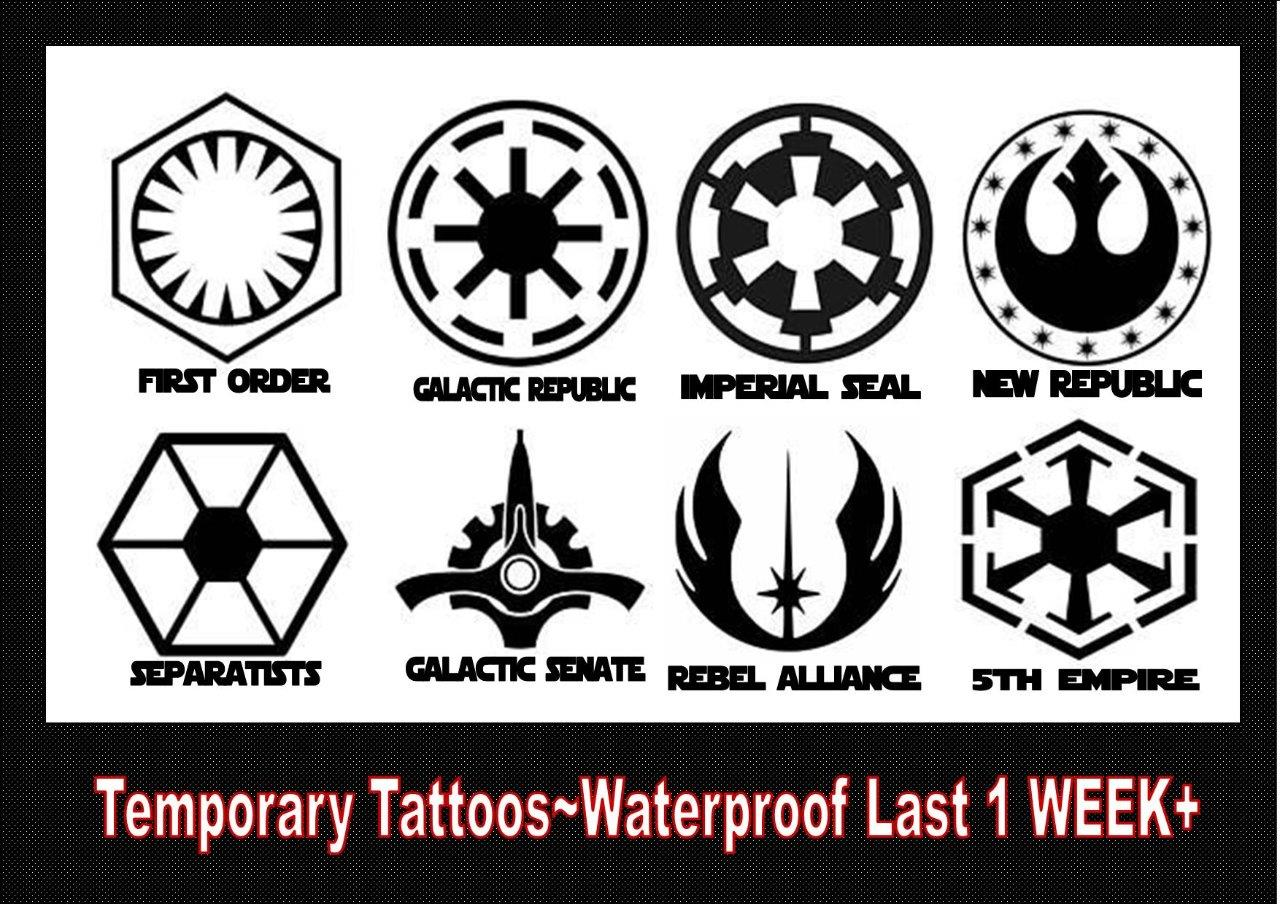 Details About Star Wars Insignia Badges Large Or Smalltemporary Tattoos Waterproof Last 1week