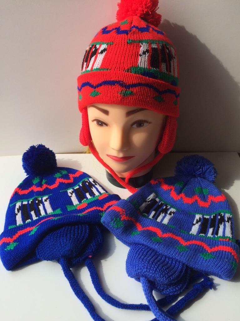 BabyPrem Warm Winter Hats Boys /& Girls Knitted Pom Pom Hat Blue Pink 1-4yr