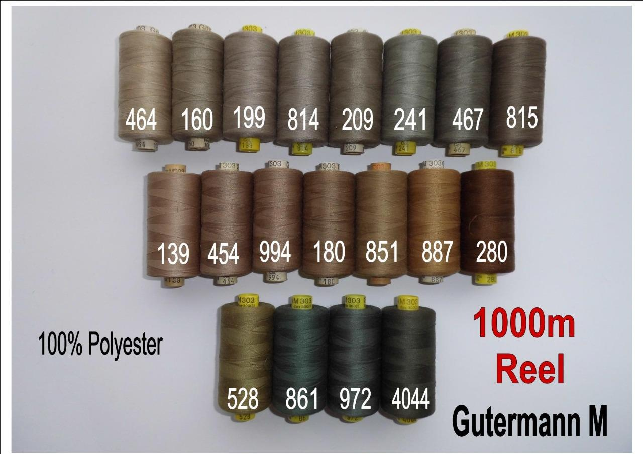 100/% Polyester Gutermann Sew-all Thread 100m Colour 464 BEIGE
