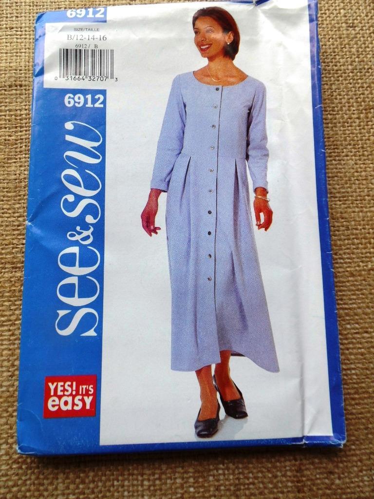 Butterick See /& Sew Ladies Easy Sewing Pattern 6440 Gathered Raglan Sleev...