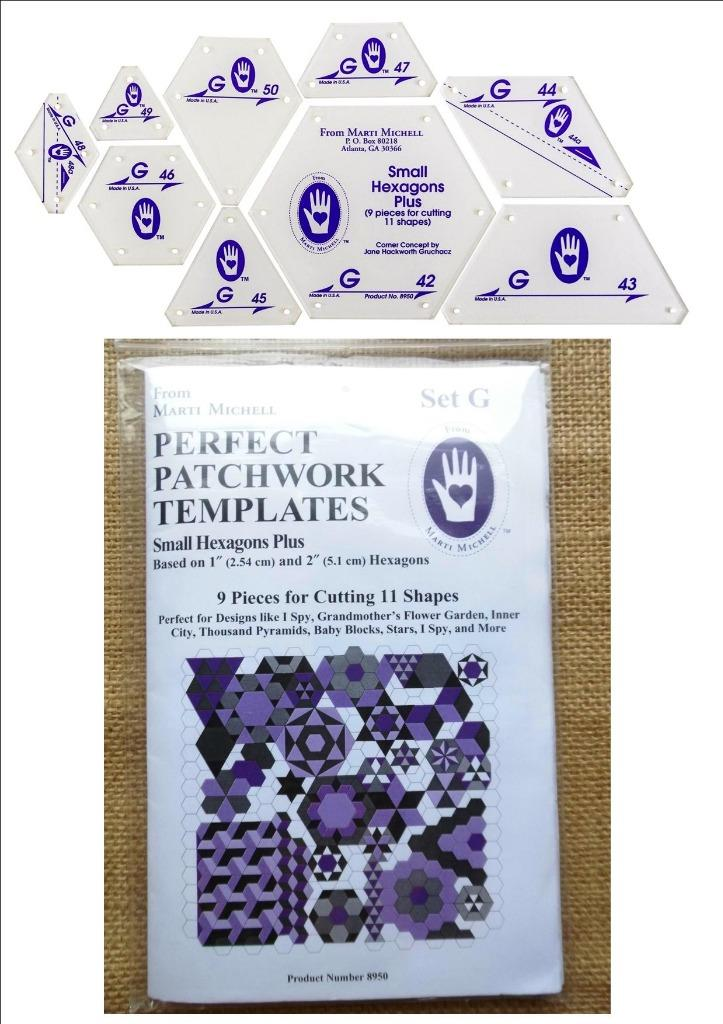 Marti Michell Perfect Patchwork System Volume 1 Bundle Includes Required Templates Sets A and B
