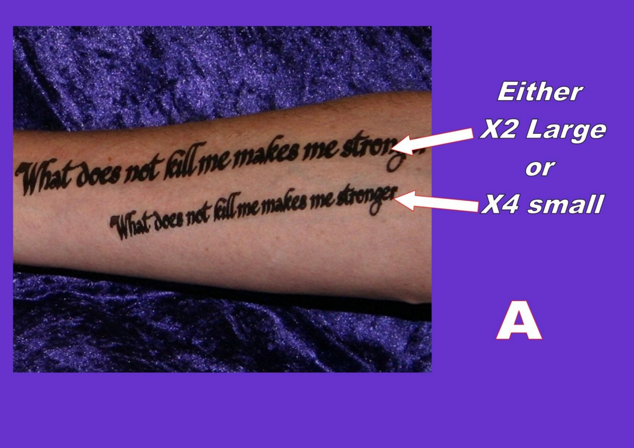 Inner Forearm Text Tattoos: TATTOOS INNER ARM FOREARM Personalised YOUR OWN QUOTE