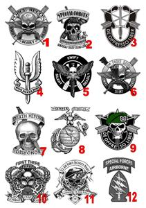 special forces temporary tattoos sas navy army air force waterproof last 1 week ebay. Black Bedroom Furniture Sets. Home Design Ideas