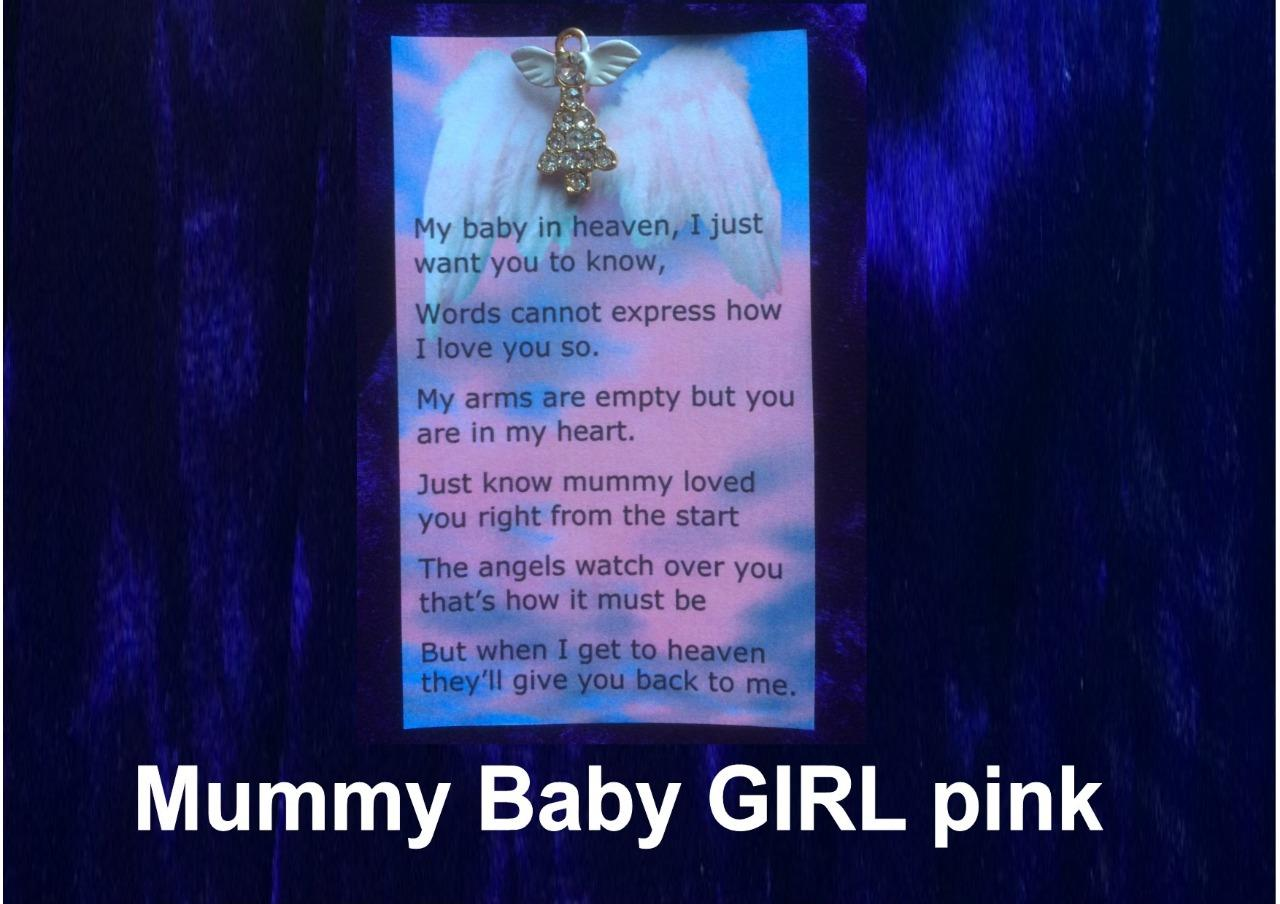 Angel Pin Poem Mummy To Baby Boy Girl In Heaven Born
