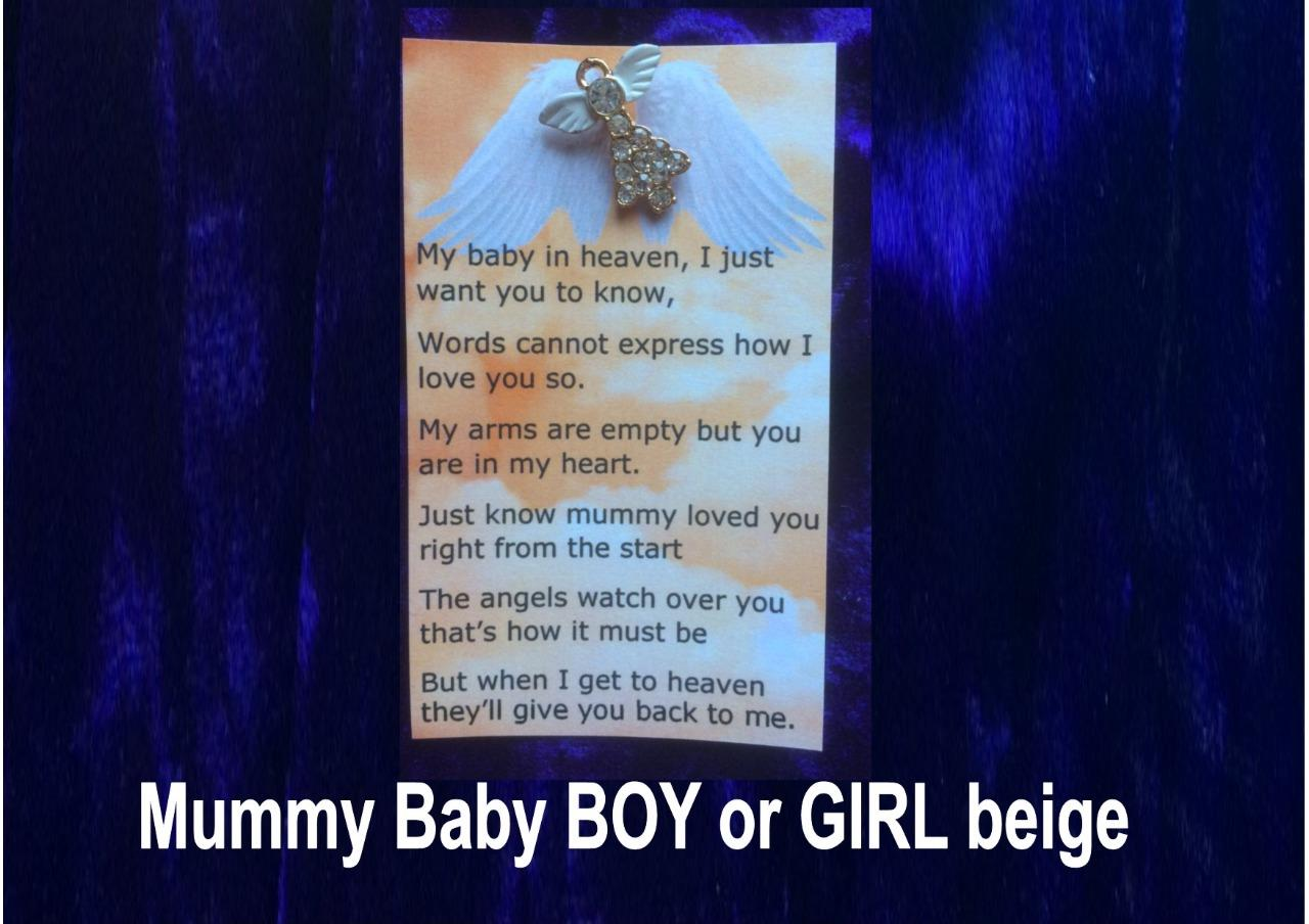 angel pin poem mummy to baby boy girl in heaven born sleeping