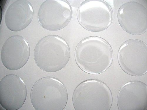 "25mm 1/"" Inch Clear Epoxy Resin Dome Stickers Self Adhesive Bottle Caps cabochon"
