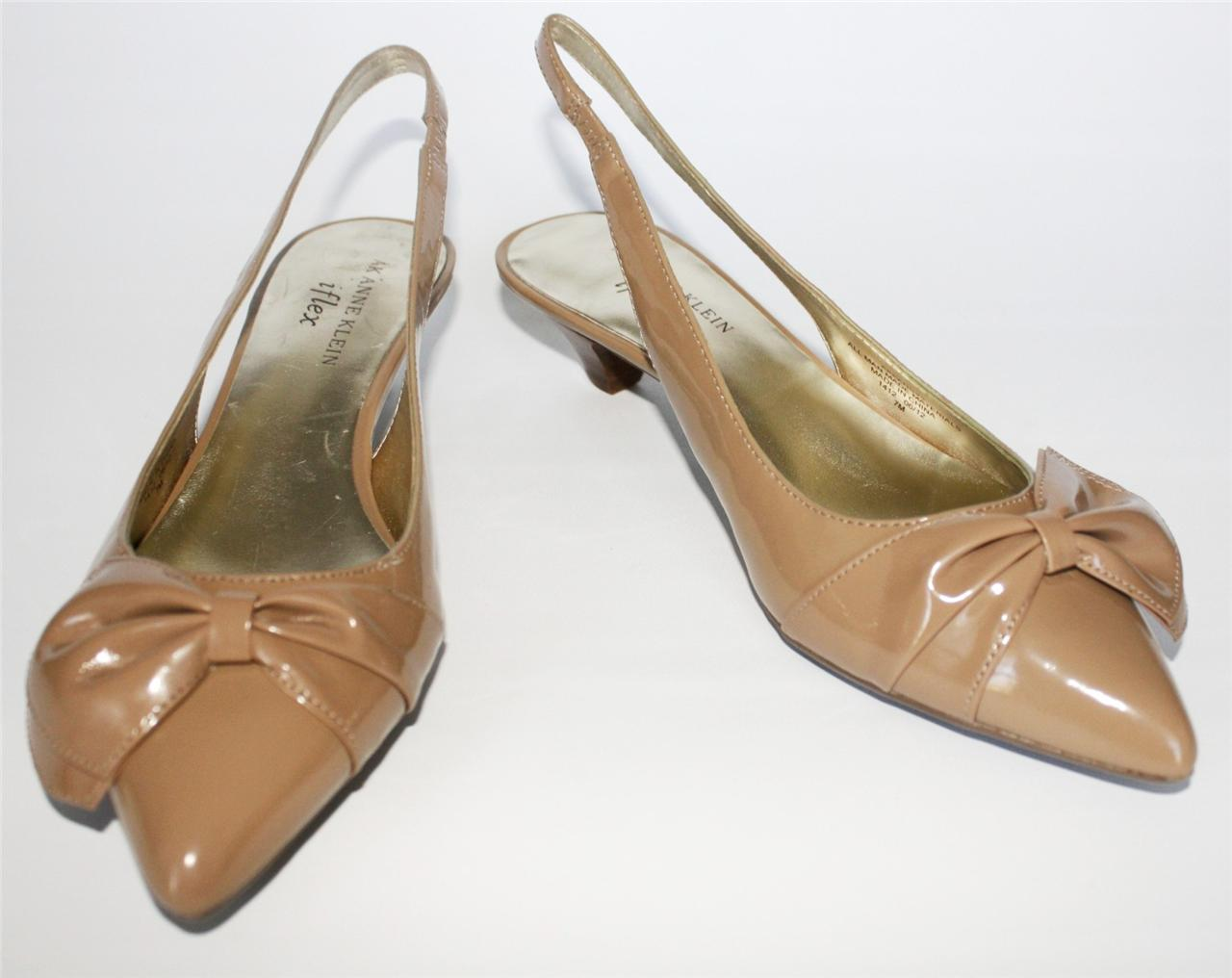 Women S Shoes Anne Klein Pansy Slingback Pumps Patent Bow