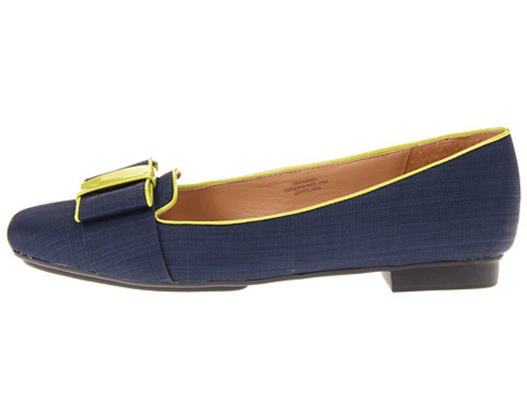 Women Navy Flat Shoes For Less