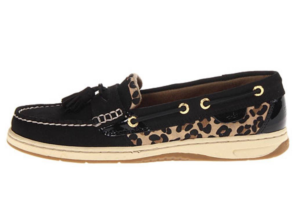 Black Leopard Sperry Boat Shoes
