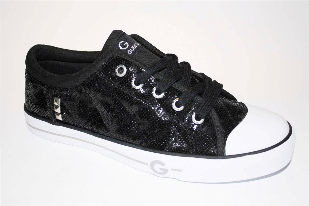 Guess Black Glitter Shoes