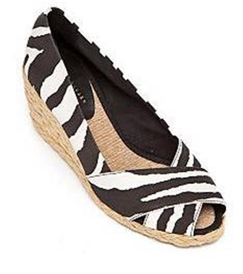 08e1b592c6cd Ralph Lauren Size 8 M Cecilia Black Cream Open Toe Wedges Womens ...