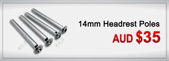 14mm Headrest Poles add on
