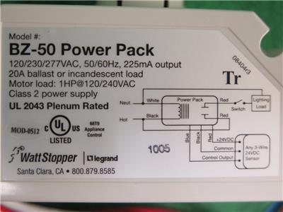 Watt Stopper Power Pack Wiring Diagram from img.auctiva.com