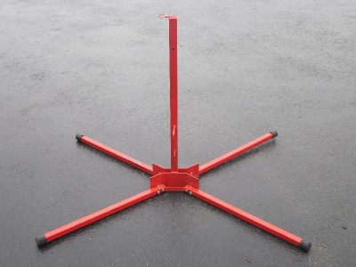 Heavy Duty Red Folding Portable Mobile Sign Post Stand Ebay