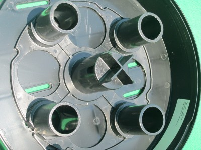 Bay West Blk Wheel 4 Roll Toilet Tissue Paper Dispenser