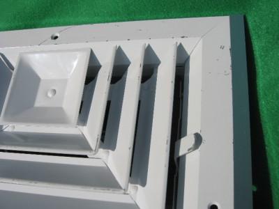 White Hvac Vent Register Damper Ceiling Diffuser 9 X 9 Ebay