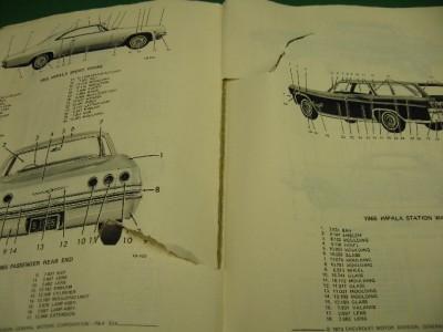 62 72 Chevrolet Chevy II Nova Chevelle Camaro Body Parts Catalog GM