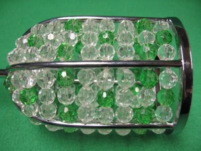 1 Light Ceiling Pendant Hanging Lamp Clear Green Beaded Lighting 385 001 Drop 4 Ebay