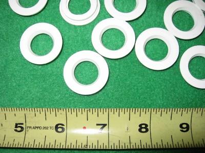 100 5 8 Nylon Plastic Flanged Sleeve Spacer Bushing Insert