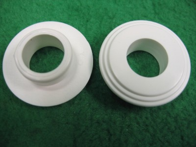 100 12mm Nylon Plastic Flange Sleeve Spacer Bushing Insert