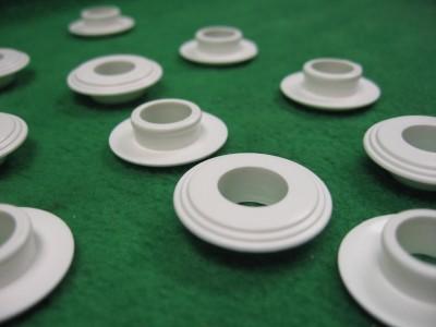 100 12mm Nylon Plastic Flange Sleeve Spacer Bushing Insert