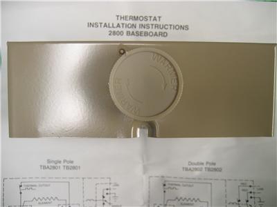 2 Markel Tb2802 Electric Baseboard Thermostat Heater Heat