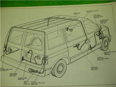 1991 gmc safari van electrical diagrams service manual ebay. Black Bedroom Furniture Sets. Home Design Ideas