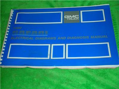 1992 gmc safari van electrical diagrams service manual ebay. Black Bedroom Furniture Sets. Home Design Ideas