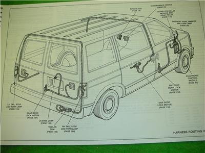 1993 gmc safari van electrical diagrams service manual ebay. Black Bedroom Furniture Sets. Home Design Ideas