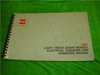 1990 gmc safari electrical diagrams van service manual ebay. Black Bedroom Furniture Sets. Home Design Ideas