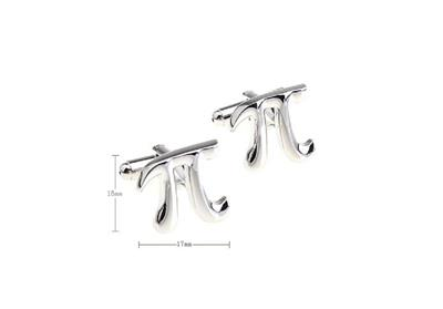 Pi Pair Cufflinks Silver 3.1415 Math Wedding Fancy Gift Box /& Polishing Cloth