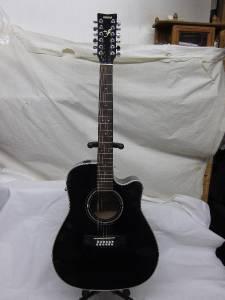 yamaha fg 411ce 12 bl 12 string acoustic electric guitar ebay. Black Bedroom Furniture Sets. Home Design Ideas