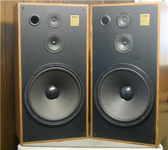Jensen cs 315 3 way monitor stereo speakers 8 ohm 15 for 15 floor speakers