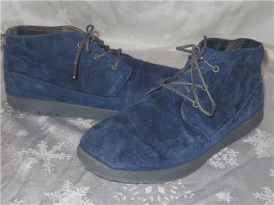 9739589fece UGG BIg Kids Boys CANOE Blue SUEDE CHUKKA BOOTS Shoes Size 6 ...
