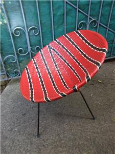 A Great Retro Red Saucer Chair For The Lovers Of Retro Furniture