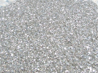 Real German Glass Glitter 90 Grit Fine Pure Silver 1 Ounce
