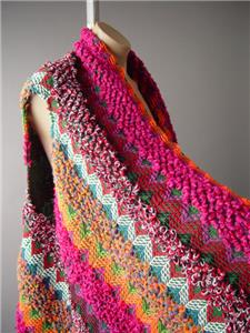 Colorful Knit Folk Tribal Pattern Bohemian Blanket Sweater Jacket 289 mv Vest OS