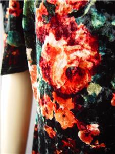 Velvet Black Floral Ruffle Cold Shoulder Evening Skater 291 mv Dress 1XL 2XL 3XL