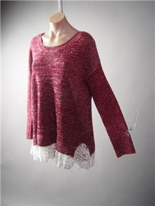 Granny Chic 90s Grunge Floral Vtg-y Black Sheer Lace 220 mv Sweater 1XL 2XL 3XL