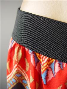 Black Tribal Embroidered Tapestry Stripe Wide Leg Palazzo 148 mv Pants S M L