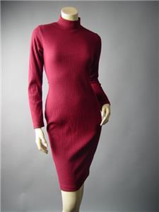 Gray Turtleneck Corset Lace Up Open Back Ribbed Sweater Knit 296 mvp Dress S M L
