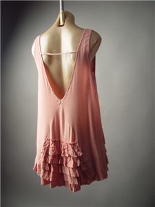 Ivory Tiered Crochet Lace 20s 30s Victorian Tea Party Mini 229 mv Dress S M L