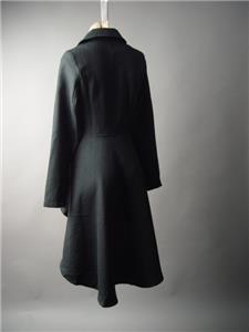 Black Victorian Era Military Steampunk Tailcoat Cutaway Jacket 189 mv Coat S M L