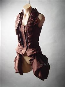 Steampunk Victorian Ruffle Bustle Tailcoat Shirt 236 mv Blouse S M L 1XL 2XL 3XL